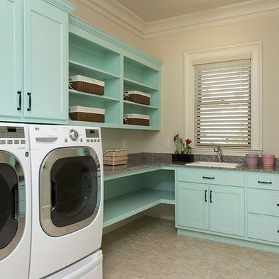 Laundry Room Shelves Ideas » L Shaped Shelves Ideas Laundry Room Part 8