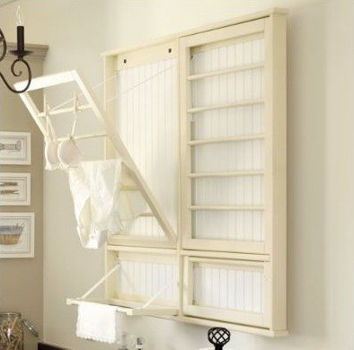 Laundry room draying rack ballard designs home interiors Laundry room drying rack ideas