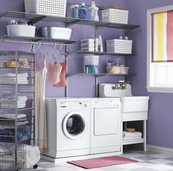 Laundry Room Shelves Store Detergent Home Interiors