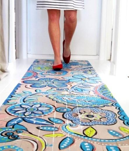 Painting Tile Floors Design Mosaic