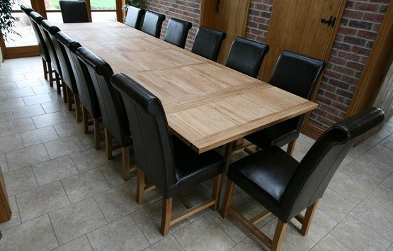 Oversized Oak Refectory Dining Table Home Interiors