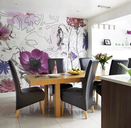 Dining Room Wallpaper Ideas And Considerations Oversized Images