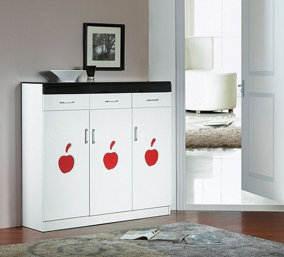Shoe cabinet with doors make decoration look more beautiful Shoe Cabinet with Doors for Interior Furniture