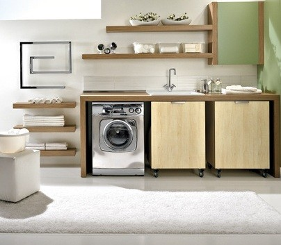 Simple design small laundry room organization ideas