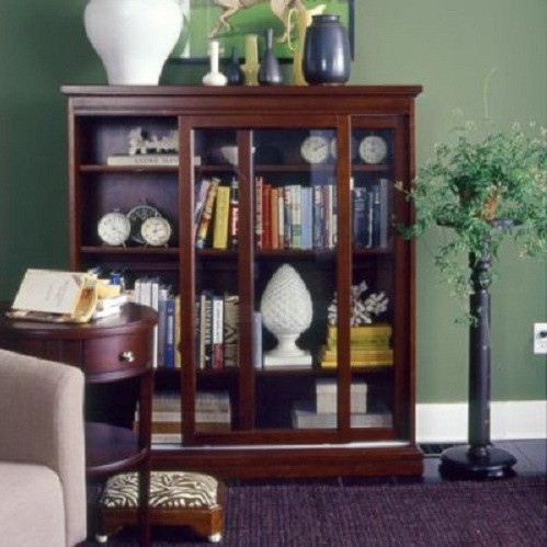 Bookcases With Glass Doors Furniture Design » Sliding Glass Door Bookcase  For Living Room