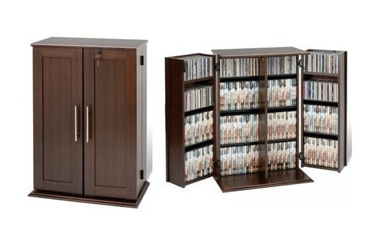 Small DVD storage cabinet with Locking Shaker Doors | Home Interiors