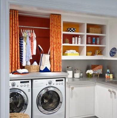 Small laundry room organization | Home Interiors