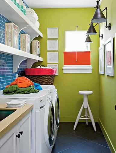 Small Space Laundry Room Paint Color Ideas | Home Interiors