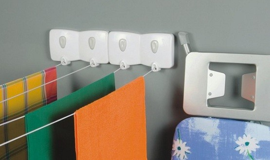 Wall mounted laundry room accessories home interiors for Laundry room decor accessories