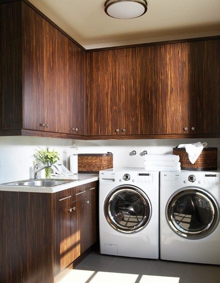 Wood storage cabinets for laundry room