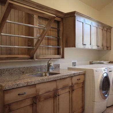 wooden laundry rack