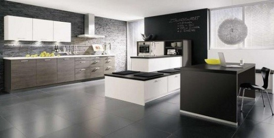 Amazing wall tile on contemporary kitchen design home interiors - Modern tile kitchen design ...