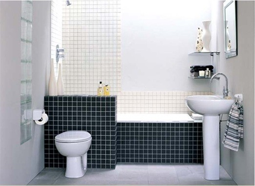 modern small bathroom tile designs ideas black and white tile for small bathroom - Bathroom Tile Ideas Black And White