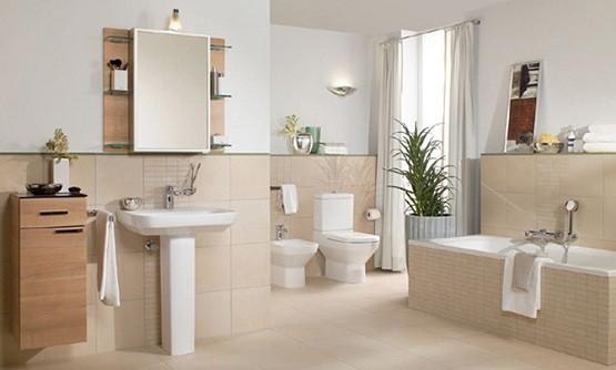 contemporary ceramic tile bathroom design home interiors. Black Bedroom Furniture Sets. Home Design Ideas