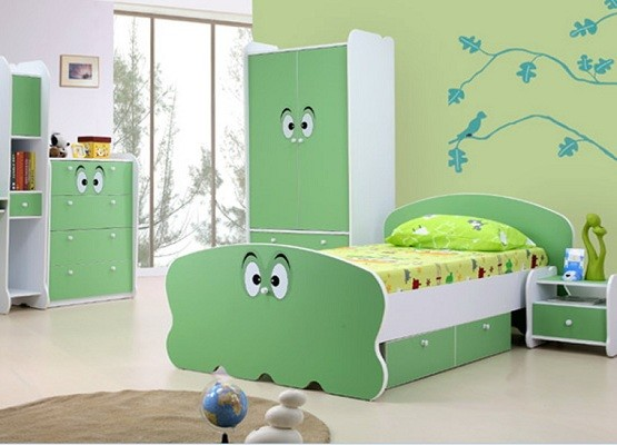 green bedroom furniture set for kid room | Home Interiors