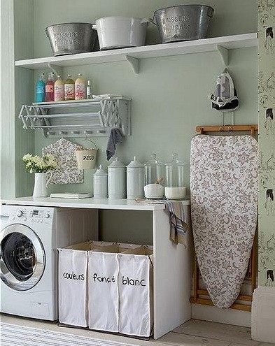 Ideas For Laundry Storage Solution In Tiny Area Stylish Room