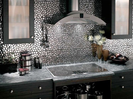 Metal Kitchen Wall Tile Ideas Home Interiors