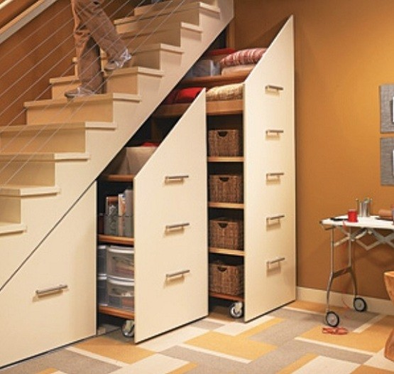 Modern Storage Design Under Staircase Home Interiors