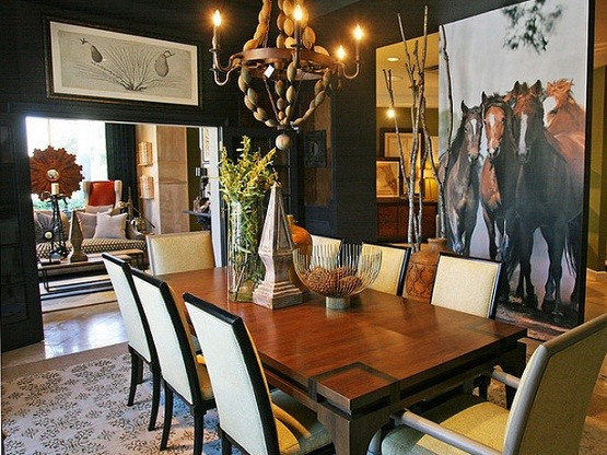 Dining Room Wallpaper Ideas And Considerations Mural Of Horses As