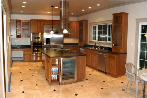 Kitchen Granite Ideas on Kitchen Floor Tile Designs Ideas    Natural Stone Kitchen Floor Tile