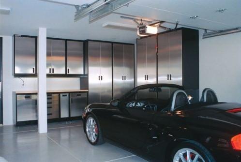 Modular Garage Cabinets Make Your Garage Look Tidy » Black U0026 Silver Modular Garage  Cabinets