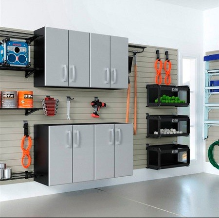 modular kitchen wall cabinets modular garage cabinets make your garage look tidy home 7833