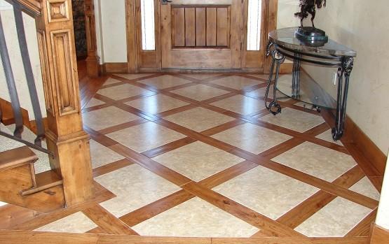Hardwood Floor With Tile Home Interiors