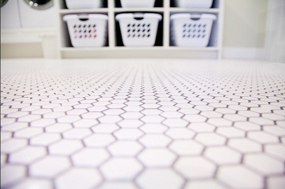 Laundry Room Flooring Design Hex Tile Laundry Room Floor