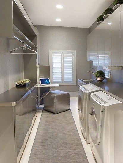 modern laundry room lighting home interiors