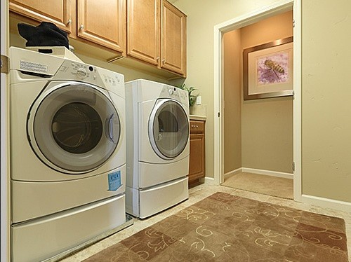 Porcelain tile for durable laundry room
