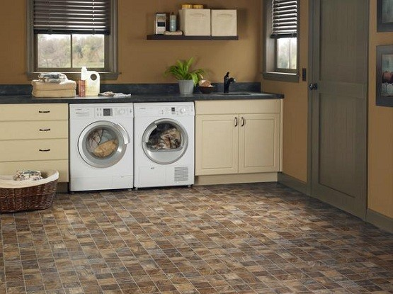 Slate Look Porcelain Tile Laundry Room Home Interiors