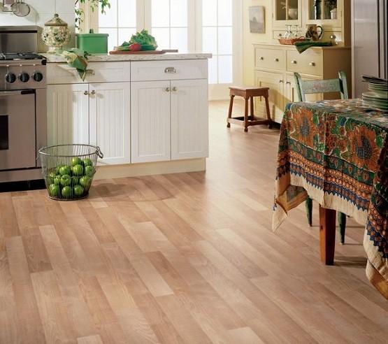Vinyl Wooden Flooring In The Kitchen Home Interiors
