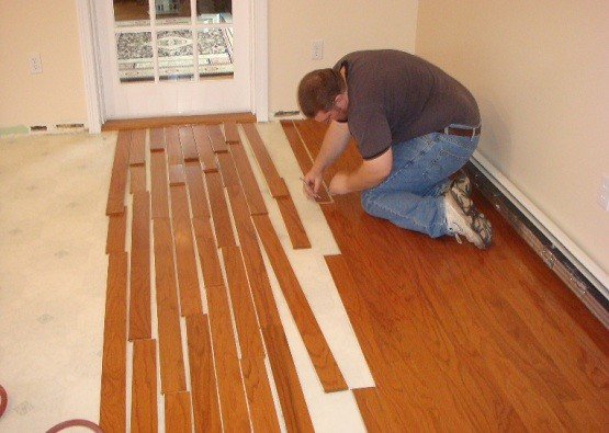 Vinyl Wooden Flooring Instalation Home Interiors