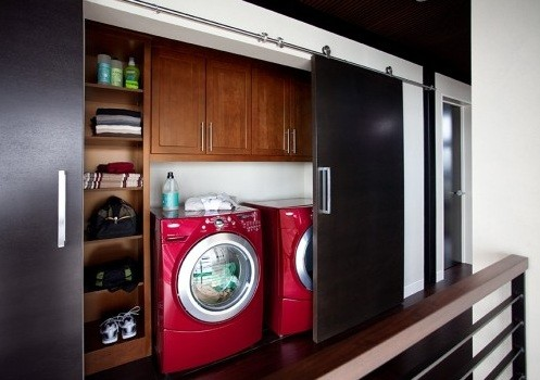 Wall cabinets design for laundry room