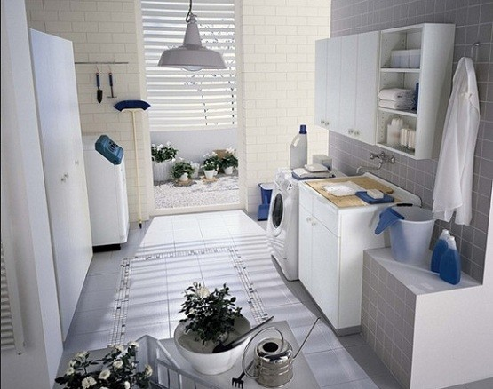 Wall cabinets for laundry room with shelves