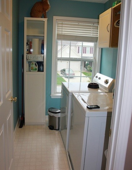Free Standing Cabinetry Laundry Room From IKEA