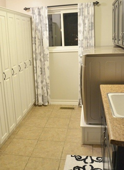 Curtain And Rug Laundry Room Home Interiors