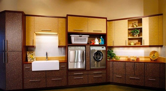 Large utility cabinets laundry room