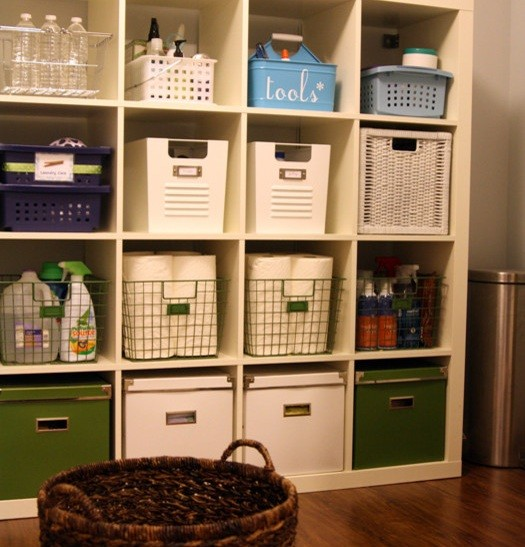 ... Your Laundry Room Decor » Laundry room storage shelves with baskets