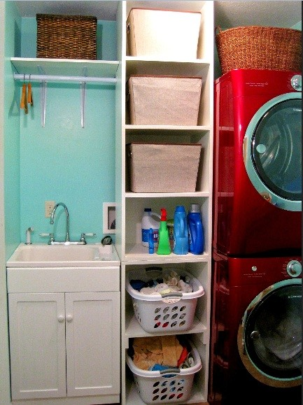Laundry Room Storage Shelves Design for Your Laundry Room Decor  Simple laundry  room storage shelves