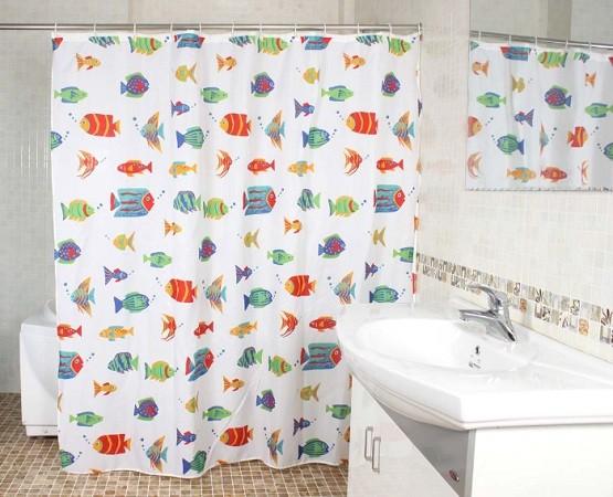 Colorful Shower Curtain colorful shower curtain ideas for simple bathroom | home interiors