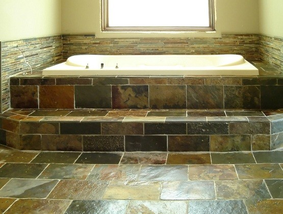 Bathroom stones flooring | Home Interiors