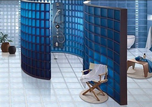 Attractive Various Bathroom Shower Stall Ideas You Can Get » Colorful Glass Block  Shower Stall Ideas