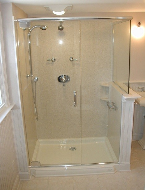 shower stall designs small bathrooms glass shower stall home interiors 25626