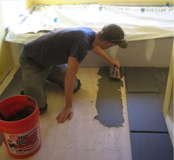 Renovating bathroom shower tiles!