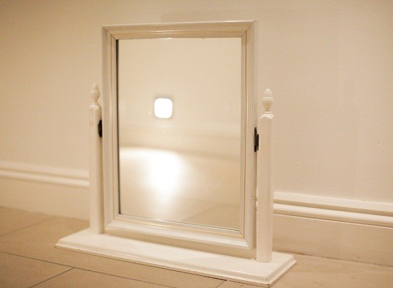 Table top mirror home interiors for Bathroom table top designs