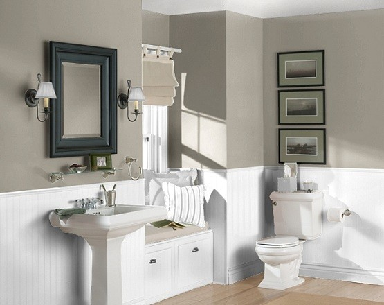 Good Colors For A Bathroom Magnificent Of Small Bathroom Paint Color Gray Photo