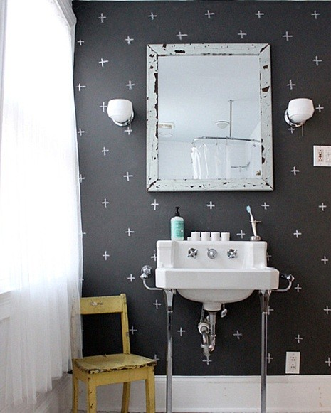 ... black white paint bathroom Creative Ideas to Decorate Your Bathroom