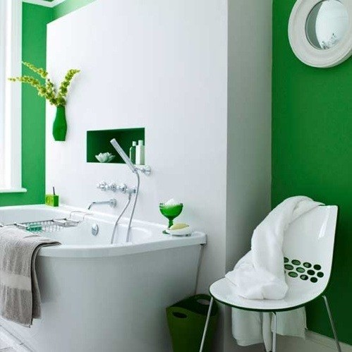 Creative ideas to decorate your bathroom wall home interiors Bathroom wall paint designs