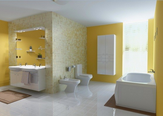 Bathroom Yellow Paint fancy-yellow color paint ideas for bathrooms | home interiors